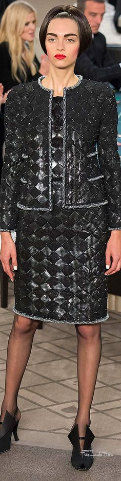 Chanel Haute Couture Fall 2015 ♔ Très Haute Diva (Love the suit, hate the shoes in this collection...jg)