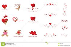 valentines day clip art   Stylish and cute Valentine's Day decorations, clip art, call out ...