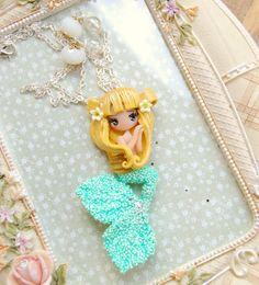 mermaid necklace by lapetitedeco on Etsy