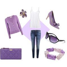 Purple outfit option 8. #purple #outfits #purpleoutfits #handbags #accessories #shoes #clothes