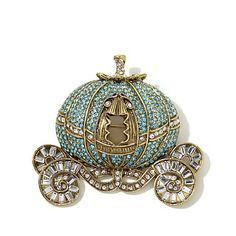 "Shop Heidi Daus ""Your Carriage Awaits"" Crystal Pin  (HSN's Cinderella collection)"