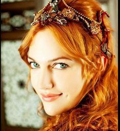 German/Turkish actress Meryem Uzerli, plays Hurrem (Roxelana) in the Turkish TV series Muhteşem Yüzyıl (Magnificent Century)
