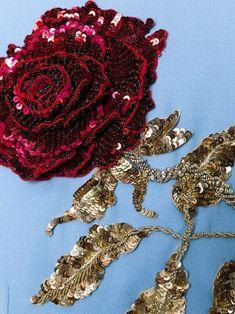 Dolce & Gabbana appliqué sequinned rose dress
