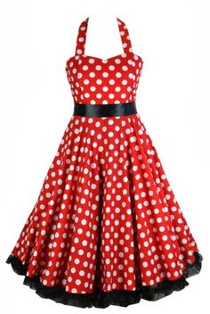 Robe vintage rouge a pois