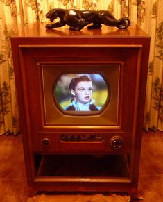 RCA Color TV I remember seeing the panther on top of tvs. Tvs, Televisions, Color Television, Vintage Television, Photo Vintage, Vintage Tv, Vintage Items, Vintage Decor, Nostalgia