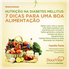 #Nutricionista Conheça as dicas para uma alimentação saudável e eficiente no controle do índice glicêmico. Camila Faria explica no blog Educação em Diabetes: http://www.educacaoemdiabetes.com.br/2013/06/10/nutricao-na-diabetes-mellitus-7-dicas-para-uma-boa-alimentacao/
