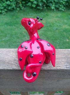 Ooak ladybug dragon by ARAartisticcreations on Etsy