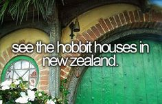 You actually can buy land in New Zealand and have people build you a hobbit hole. I have to do this!!