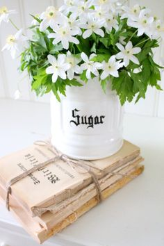 Bara Det Ljuvligaste - Vintage. - use my ironstone pitche with white flowers.  Yes!