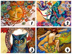 DE TODO UN POCO: TEST: Días de color Would U Rather, My Test, Best Friends Forever, New Beginnings, Artwork, Painting, Psychology, Angeles, Magic