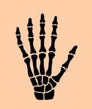 """SKELETON HAND STENCIL BONES BONE STENCILS FLEXIBLE TEMPLATE CRAFT NEW 10"""" X 8"""""""