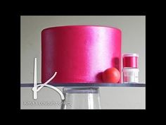 Applying luster dust to whole cake