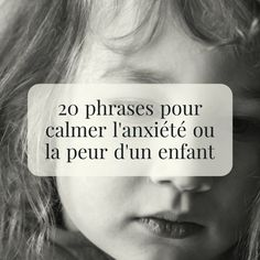 20 sentences to calm the anxiety or fear of a child 2 - Centre de bien-être 2019 Autism Education, Education Positive, Anxiety In Children, Young Children, Yoga For Kids, Quotes For Kids, Family Quotes, Quotes Children, Positive Attitude
