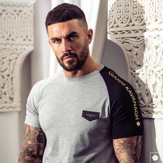 Check our Asymmetric Sleeve Collection and dare to be different! New T Shirt Design, Shirt Print Design, Tee Shirt Designs, Cool Shirts For Girls, Cool T Shirts, Mens Polo T Shirts, Mens Tees, Latest Mens Fashion, Summer Shirts