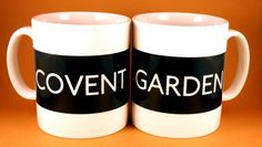 Personalised London Mug - personalise your mug with the name of your choice is the style of a London bus blind.