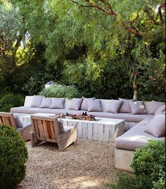 But with warm color Outdoor Living. Patrick Dempsey design
