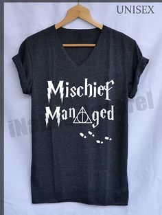 5. Mischief Managed Marauder's Map Shirt Harry Potter Shirts V-Neck Unisex S M L