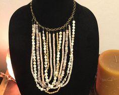 Lungo Multi strato turchese e perla collana di toosis su Etsy