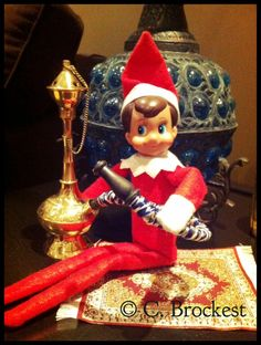 Elf on the Shelf- Dutchie brought home gifts from his travels to Turkey