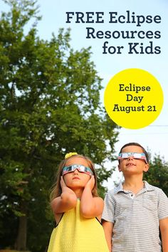 Big list of free eclipse activities for kids to celebrate the total solar eclipse on Eclipse Day (August 21, 2017). Download free eclipse printables & more.