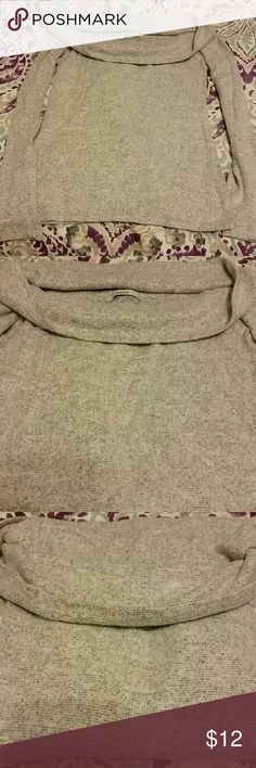 Women's sweater Light gray, boat neck, cropped Acemi Sweaters Crew & Scoop Necks