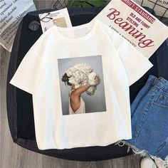 New Women S Feathers Print Funny Gift Top T shirt XXL Angels Are Always Near