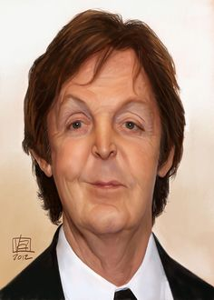 Caricatura de Paul McCartney.
