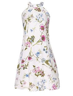 PAKULA Womens Sleeveless Vintage Printed Ethnic Style Casual Dress >>> For more information, visit image link.