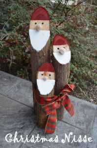Smart Girls DIY - Cedar Log Christmas Nisse