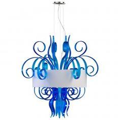 Large Blue Jellyfish Pendant by Cyan Design