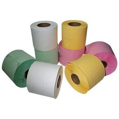 Colored Toilet Paper.