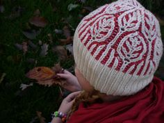 2-color Brioche. Ravelry: Frost on Leaves pattern by Midori Hirose