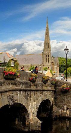 Westport's River Carrowbeg, Mayo, Ireland.