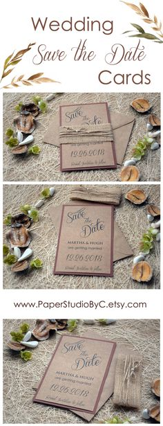 Surprise your guests with this Rustic Wedding Save the Date. Fully assembled and customizable. Is special in all details on them and your guests will melt with your Save The Date Invitations.