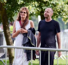 Jemima Goldsmith looked like a lovestruck teenager as she smooched at a London…
