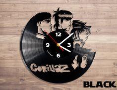 Home accessories – Gorillaz vinyl record wall clock – a unique product by DenisVin on DaWanda