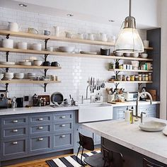 I have been obsessed with this kitchen ever since I saw the movie The Intern. Nancy Meyers movies always have the most dreamy homes!