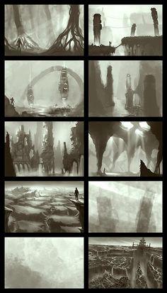 Environment Thumbs, Nikolay Georgiev on ArtStation at https://www.artstation.com/artwork/environment-thumbs-527c2868-ef13-4f47-914c-6621c4aaeb64