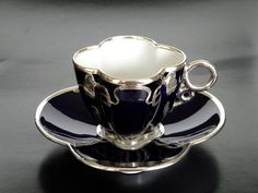 An Export Silver Two-handled Centerpiece Bowl, probably Japanese, early century Tea Cup Set, My Cup Of Tea, Cup And Saucer Set, Tea Cup Saucer, Tea Sets, Vintage Tea, Vintage Cups, Teapots And Cups, Teacups