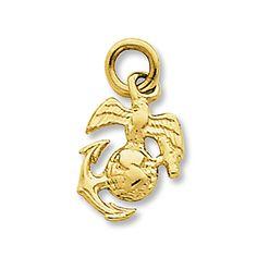 U.S. Marine Corps Charm 14K Yellow Gold~Beautiful~