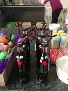 Coke Reindeer for Christmas Party drinks #coke #reindeer