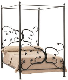 Stone County Ironworks - Eden Isle Iron Canopy  King Bed, $3,365.00 (http://www.stonecountyironworks.com/shop-products/iron-beds/king/eden-isle-iron-canopy-king-bed/)