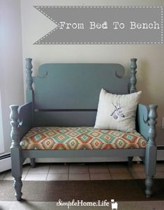 Wonder what you could do with an old crib that has really neat ends....maybe a chair??? Might have to look more into this for my baby crib before my parents get rid of it!