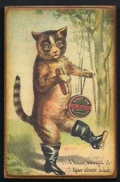 Puss in Boots Vintage Style Trade Card