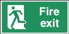 Fire Exit LEFT Emergency Escape safety sign