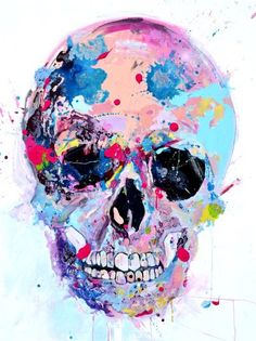 skull / watercolors / illustration