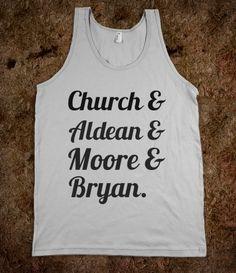 Church, Aldean, Moore, and Bryan  @ELizabeth Parsons