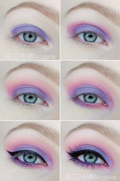 pastelgoth-ojos eye make up