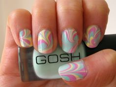 Do it Yourself Marble Nail Art ~ It's a very simple, easy and glamorous look for your nails!