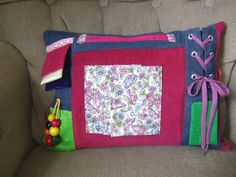 Custom Order Alzheimer's Dementia Activity Pillow Fidget, Ties to chair or wheelchair - Hours of Busy Therapy Fun on Etsy, $48.00